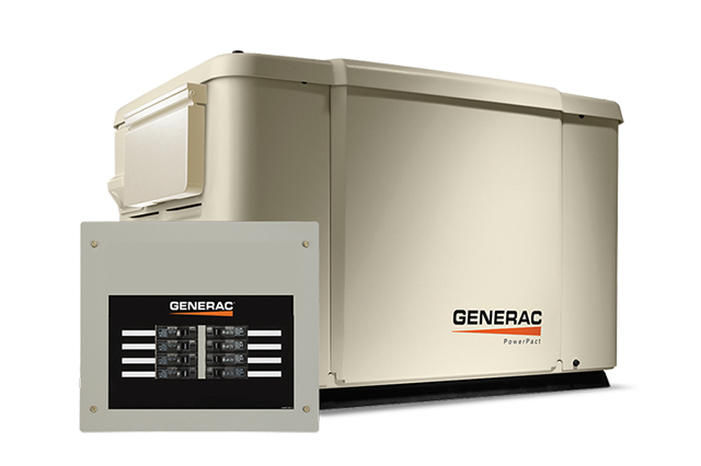 7.5kW Generac Air Cooled Dual Fuel Standby Generator